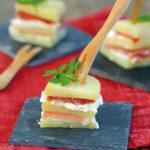 Millefeuille de Princesse Amandine® au jambon serrano et tomme de brebis - Chef Xavier Hamon ©F.Schmitt/Germicopa