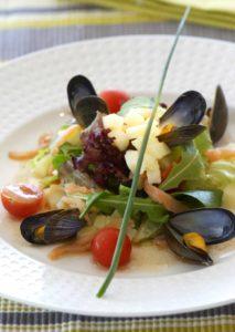La salade poum-poum d'été - Chef Philippe Cassegrain ©B.Galeron/Germicopa