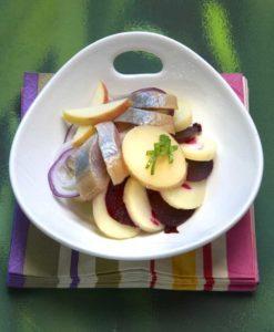 Salade de Princesse Amandine® et pomme fruit au hareng - Chef Guy Guilloux ©B.Galeron/Germicopa