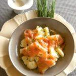 Salade de Princesse Amandine® au saumon - Chef Jean-François Sicallac ©B.Galeron/Germicopa