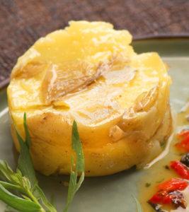Pommes tapées et filet de cabillaud à l'estragon - Chef Philippe Hatté ©B.Galeron/Germicopa