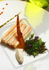 """Princesse Amandine® et saumon fumé façon """"Lucullus"""" - Chef Ludovic Le Torc'h ©B.Galeron/Germicopa"""