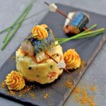 Pomme fourchette de Princesse Amandine®, maquereaux sous la flamme - Chef Julien Marseault ©F.Schmitt/Germicopa
