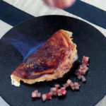 Omelette soufflée parmentière, fraises Gariguettes confites - Chef Didier Lecuisinier ©B.Galéron/Germicopa