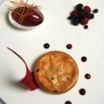 Tarte soufflée Blue Belle et sorbet fruits rouges - Chef Nicolas Conraux ©B.Galéron/Germicopa