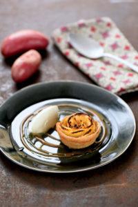 Fleur de Chérie et pomme, glace à la vanille gousse - Chef David Bergot - ©F.Schmitt/Germicopa