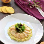 Parmentier-poireau-de-Blue-Belle - Chef Guy Guilloux ©F.Schmitt/Germicopa marguerite de coquilles saint-jacques